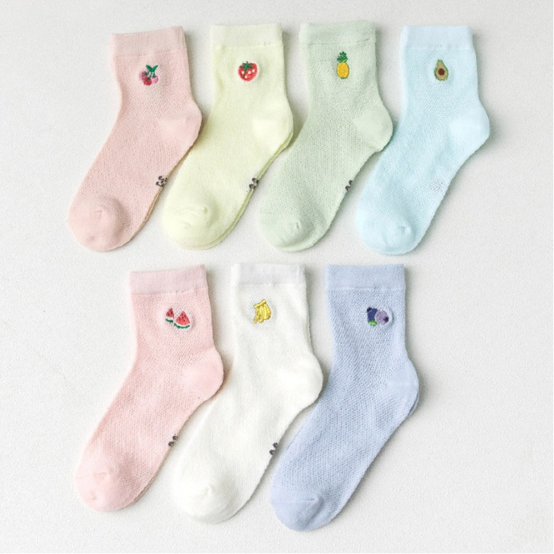 Набор детских носков «Фрукты-2» в мягкой упаковке, 7 пар