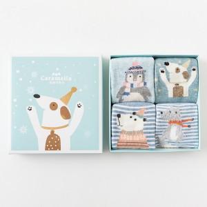 Набор детских носков «Зимний пёс», 4 пары