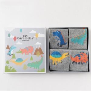 Набор детских носков «Мир динозавров», 4 пары