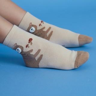 Набор детских носков «Мишки в лесу» в мягкой упаковке, 3 пары