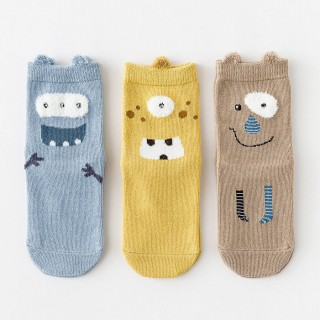 Набор детских носков «Весёлые монстрики» в мягкой упаковке, 3 пары