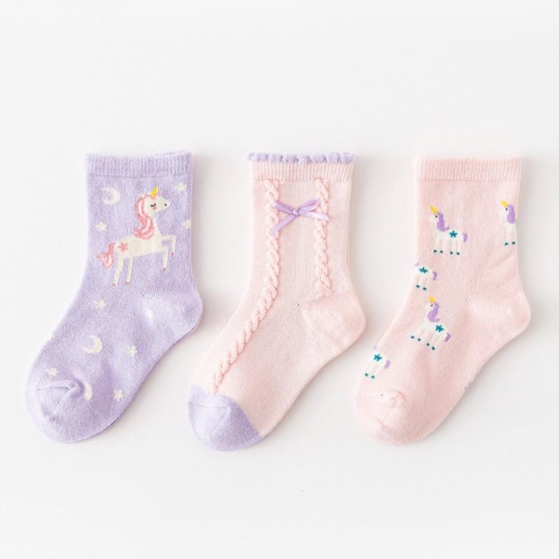Набор детских носков «Звёздный единорог» в мягкой упаковке, 3 пары