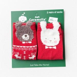 Носки детские «Мишка и заяц», 2 пары