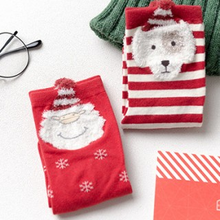 Носки детские «Дед мороз и собачка», 2 пары