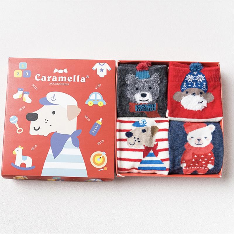 Набор детских носков новогодний «Собачка-2», 4 пары