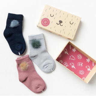Набор детских носков «Помпончики», 3 пары