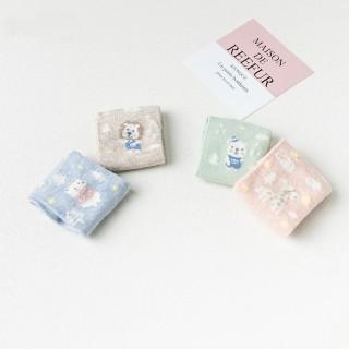 Набор детских носков «Зоопарк» розовый, 4 пары