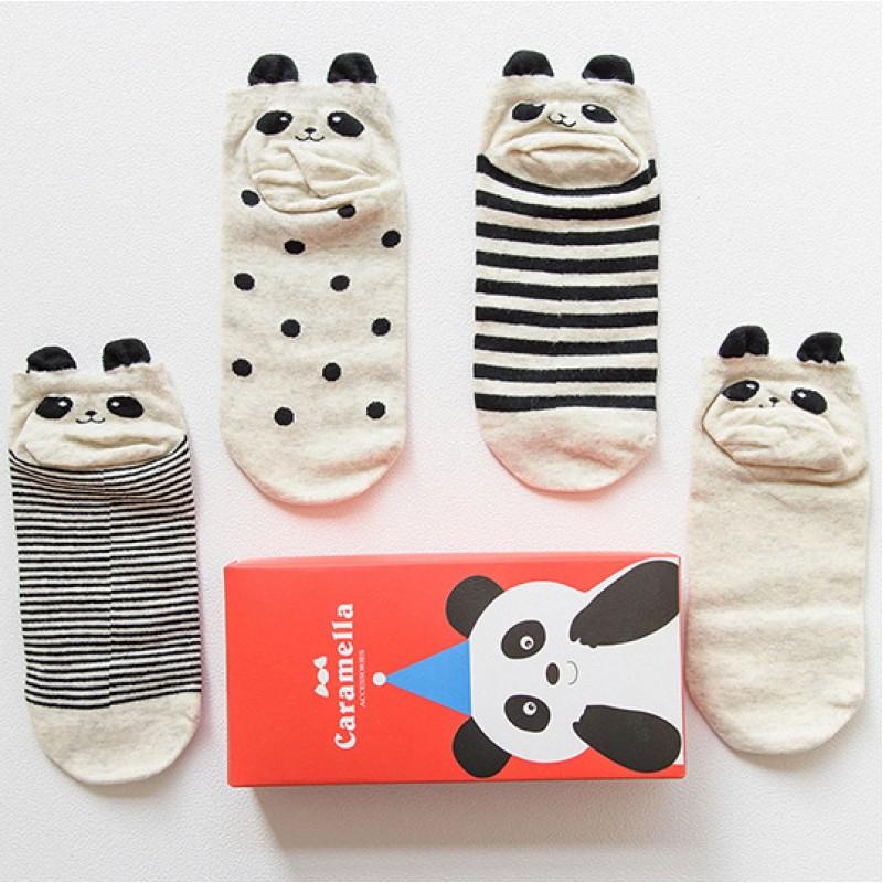 Набор носков новогодний «Панда-1», 4 пары