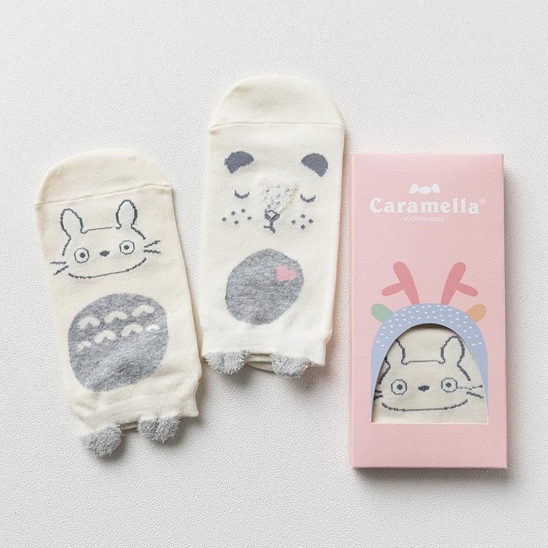 Набор носков «Тоторо и мишка», 2 пары