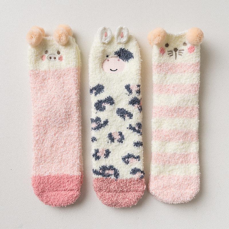 Набор мягких носков новогодний «Животные» в мягкой упаковке