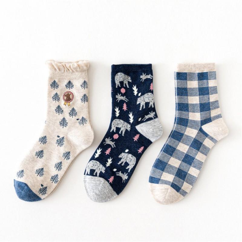 Набор носков «Волки в лесу» в мягкой упаковке, 3 пары