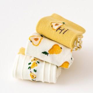 Набор носков «Груши» в мягкой упаковке, 3 пары