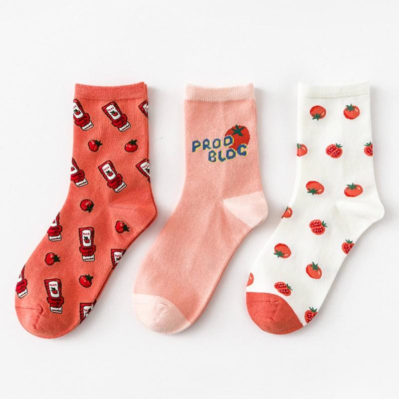 Набор носков «Томаты» в мягкой упаковке, 3 пары