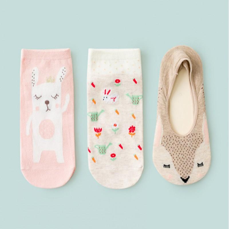 Набор носков «Зайка и ёжик» в мягкой упаковке, 3 пары