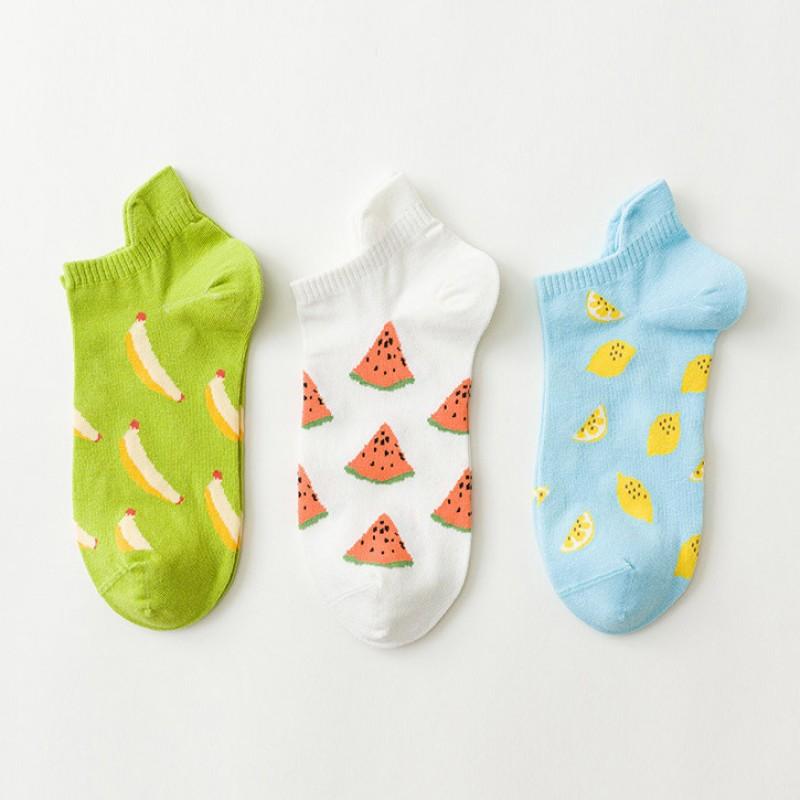 Набор носков «Фрутовый смузи» в мягкой упаковке, 3 пары