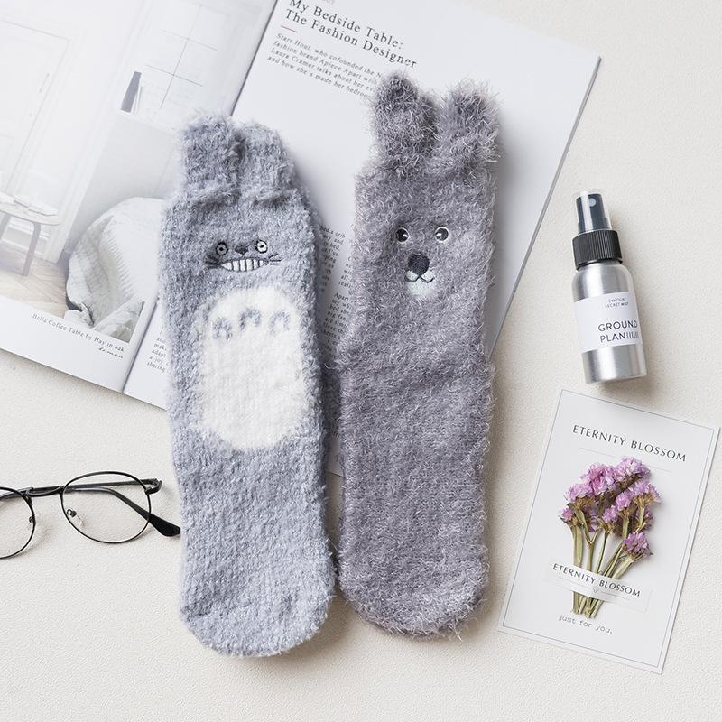 Носки мягкие «Тоторо и зайчик»